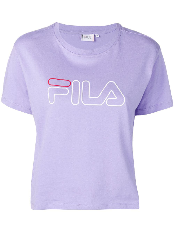 e54e342b Fila Logo Print T-Shirt - Purple | ModeSens