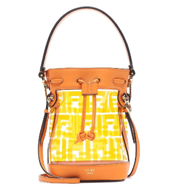 21ff4dd4a7a0 Fendi Mini Mon TrÉSor Leather   Pvc Bag In Orange