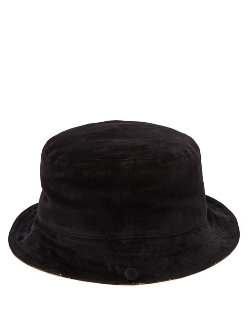 de10414a0 Gucci - Reversible Silk Twill & Velvet Bucket Hat - Womens - Black
