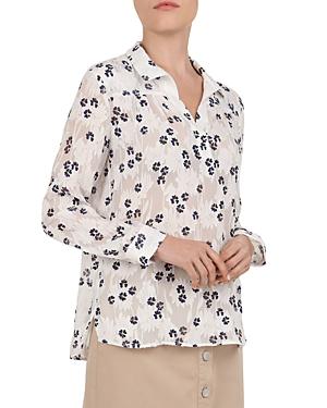 4106ac80d4584e Gerard Darel Erika Silk & Cotton Floral Devore Blouse In Ecru | ModeSens