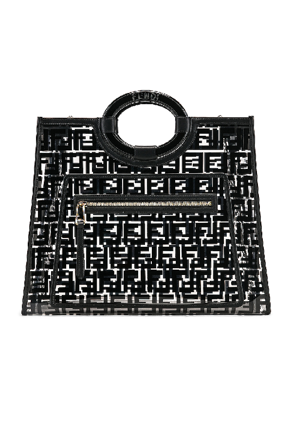 fbf1d04f8867 Fendi Runaway Medium Ff Pvc Shopper Tote Bag In Black