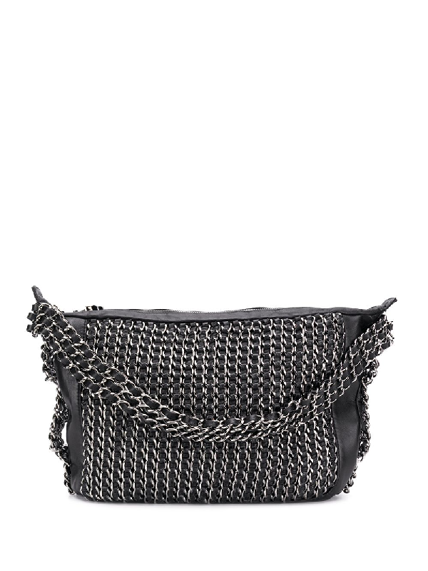 b28e074568e4 Chanel Pre-Owned All-Over Chain Embellished Tote Bag - Black | ModeSens