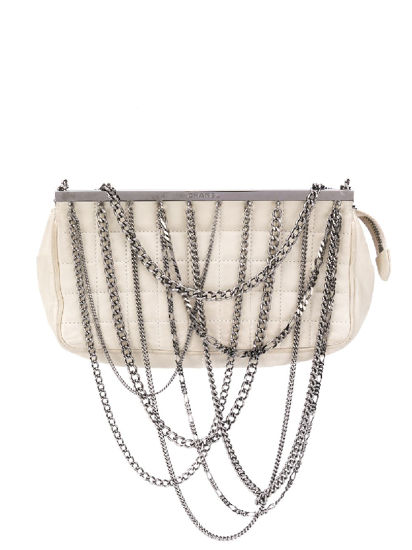 47cdb203ab24 Chanel Pre-Owned Chain Embellished Tote Bag - Neutrals | ModeSens