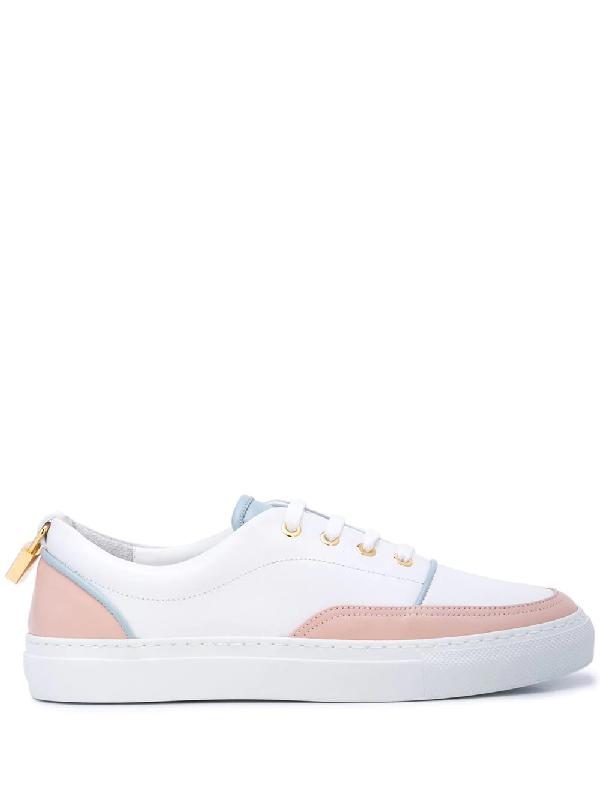 big sale d3b5c 756b7 Buscemi Colour Block Low-Top Sneakers - White In 0010 White Trio