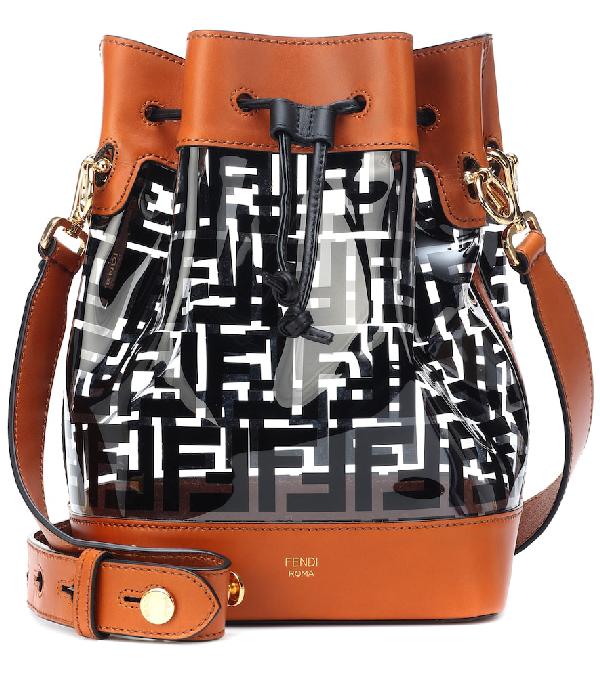 d48c1283dee Fendi Mon Tresor Leather-Trim Bucket Bag In Black. Mytheresa