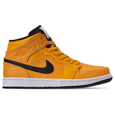 Men's Jordan Air 1 Mid ShoesYellow Retro Basketball 1l3KJuFcT