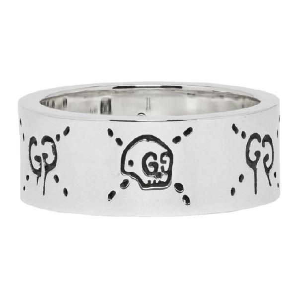 427bb5e0f Gucci Ghost Ring In Silver - Farfetch In 0701Silver | ModeSens