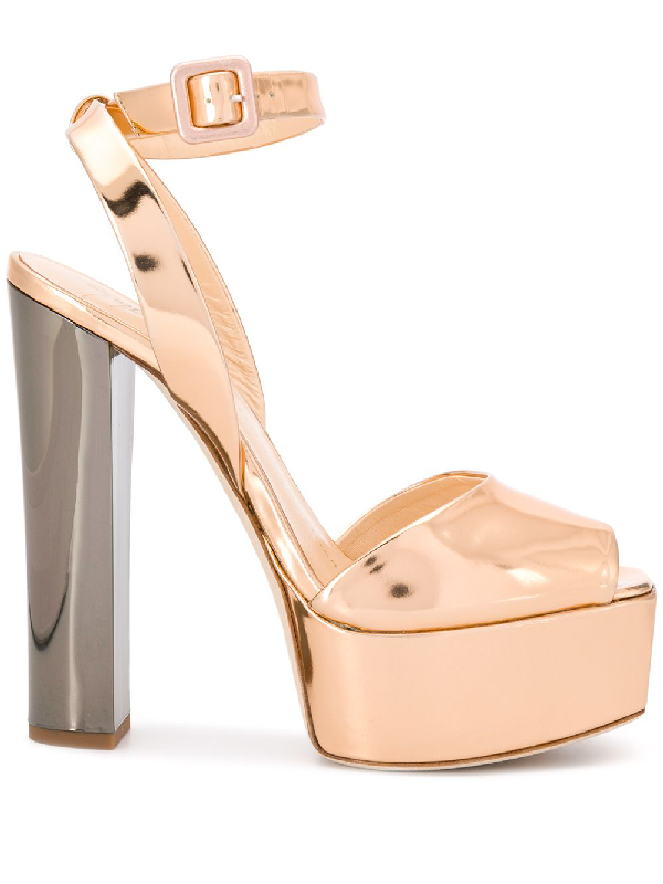 5e7c2f146a83e Giuseppe Zanotti Betty Platform Sandals - Gold | ModeSens