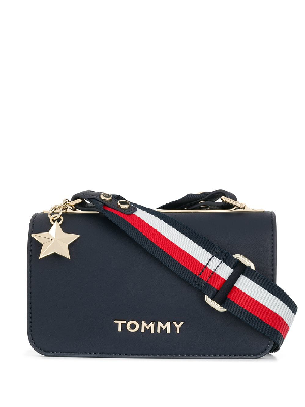 77c6ffde9b Tommy Hilfiger Foldover Top Crossbody Bag - Blue | ModeSens