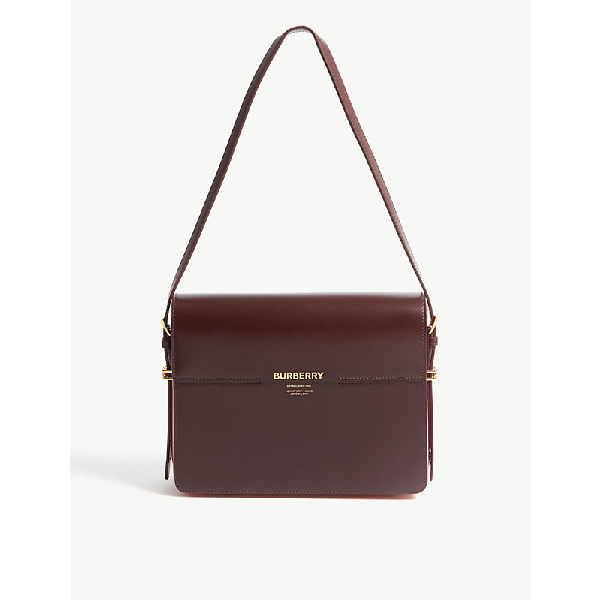 b9ce0884cd Burberry Horseferry Print Leather Shoulder Bag In Oxblood/Red   ModeSens