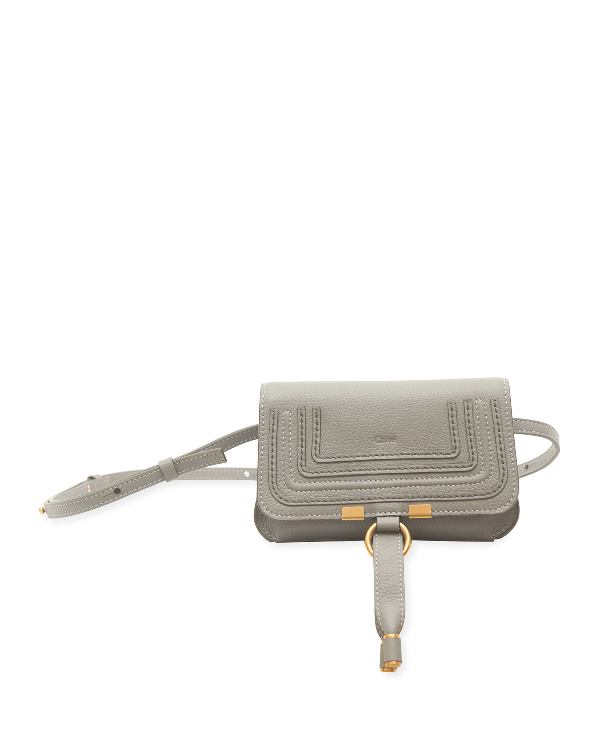 c72ef69595630d ChloÉ Marcie Small Leather Belt Bag In Gray | ModeSens