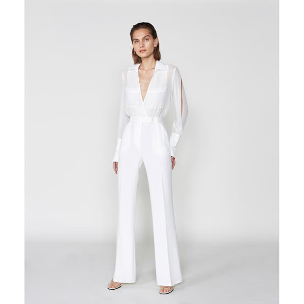Outline Princeton Jumpsuit In White