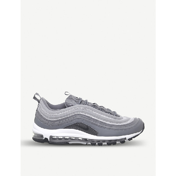 c5c0abeb77 Nike Air Max 97 Leather Trainers In Cool Grey Wolf Grey | ModeSens