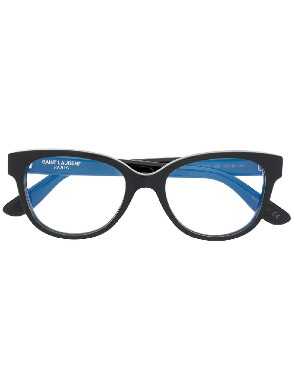 0c8bd2c80265 Saint Laurent Eyewear Oversized Frame Glasses - Black In Schwarz ...