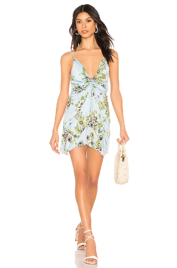 2e1d632bfbb2 Free People Happy Heart Ruched Mini Dress In Blue | ModeSens