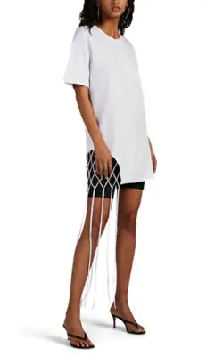 9e94518e9555 Area Crystal-Embellished T-Shirt Dress In White | ModeSens