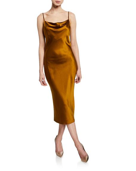 6427f5c069ba Fleur Du Mal Cowl-Neck Slip Dress In Black | ModeSens