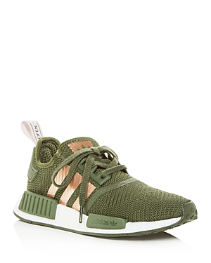 c6a06c884 Adidas Originals Women s Nmd R1 Knit Low-Top Sneakers In Base Green  Super  Pop