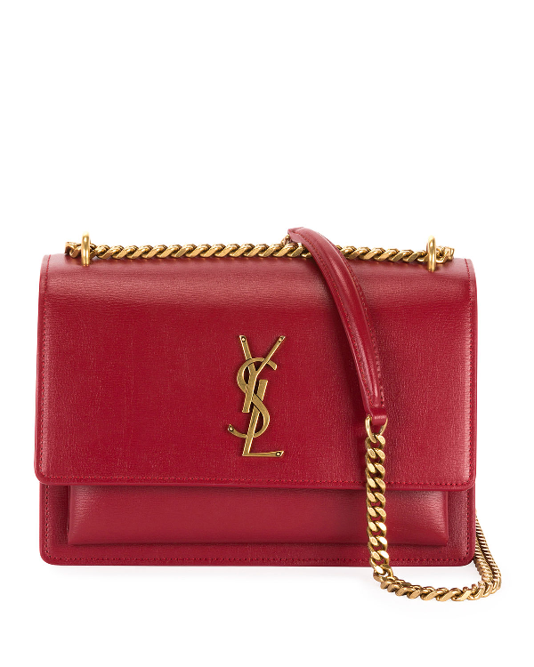 3d3547b4b8 Monogram Ysl Sunset Medium Chain Crossbody Bag in Medium Red