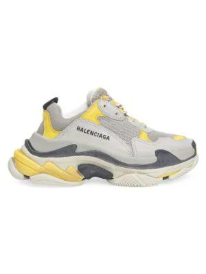 Balenciaga Triple S Sneakers In Yellow Grey White