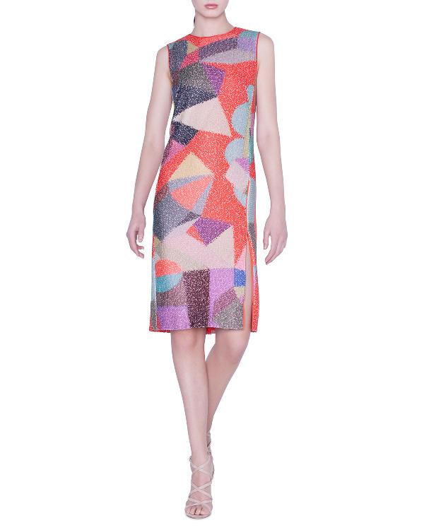 6586444d2d Akris Summer Sequined Sheath Dress In Multi Pattern