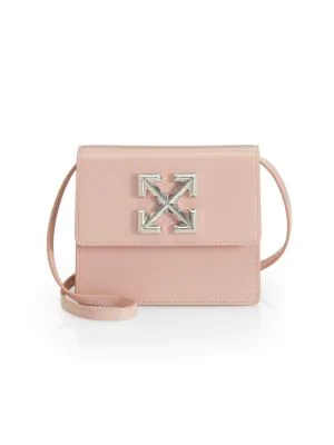 Jitney 0 7 Leather Crossbody Bag In Light Pink