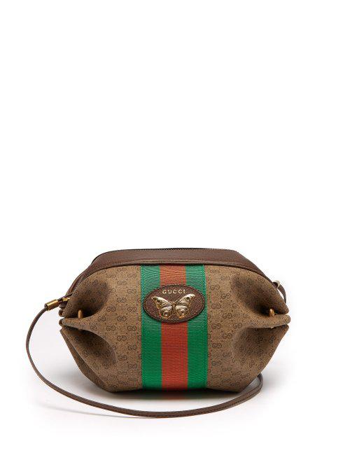fb2189d6cf57d Gucci New Candy Gg Supreme Canvas Mini Crossbody Bag - Brown In 8361 Brown