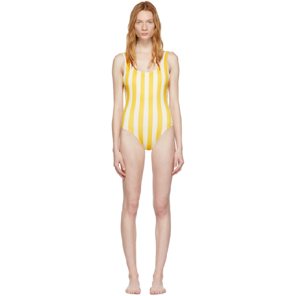 b058494c17621 Solid & Striped Solid And Striped Yellow And Off-White The Anne-Marie One