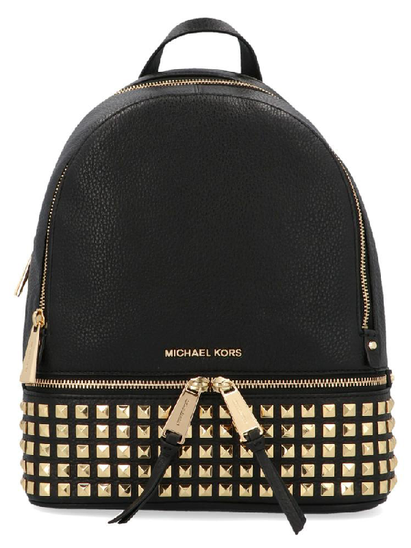 35052dd1729dc6 Michael Michael Kors Rhea Backpack In Black   ModeSens