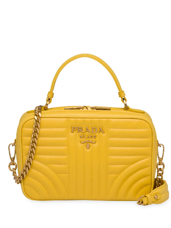 a957979bd33050 Prada Diagramme Small Shoulder Bag - Yellow | ModeSens