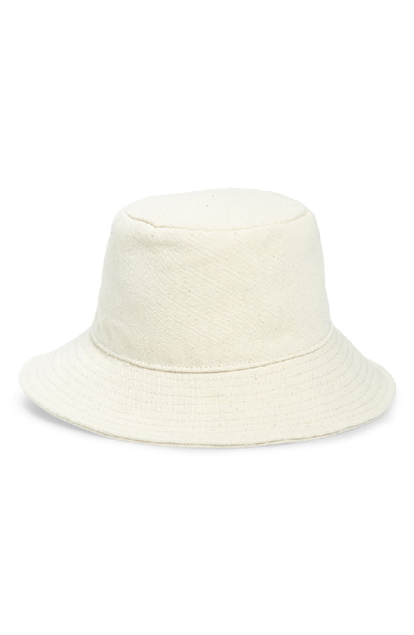 6ba2302f0 Short Brimmed Canvas Bucket Hat in Natural