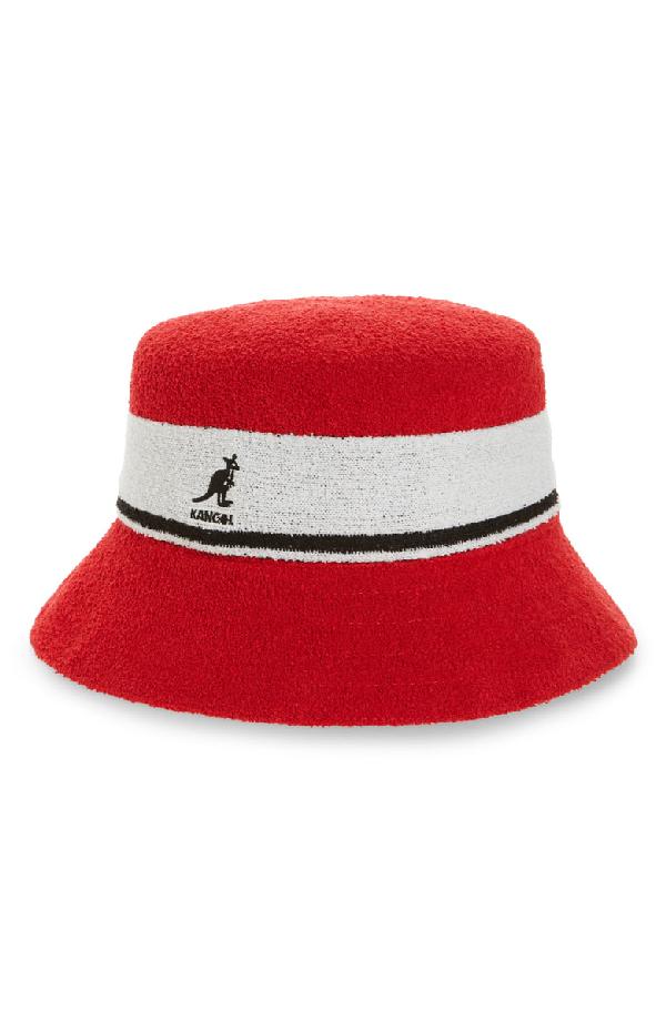 04c693a131e0 Kangol Bermuda Stripe Bucket Hat - Red In Scarlet | ModeSens