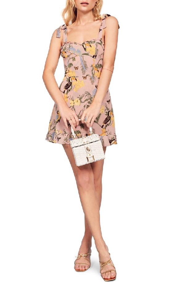 d97e6c95ff19 Reformation Christine Ruffle Detail Minidress In Conga | ModeSens