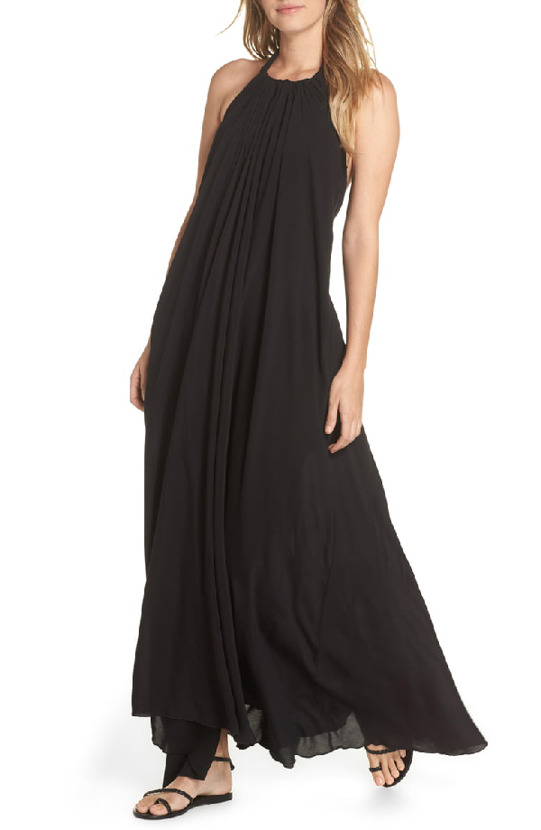 f68eecad420c0 Elan Cover-Up Maxi Dress In Black | ModeSens
