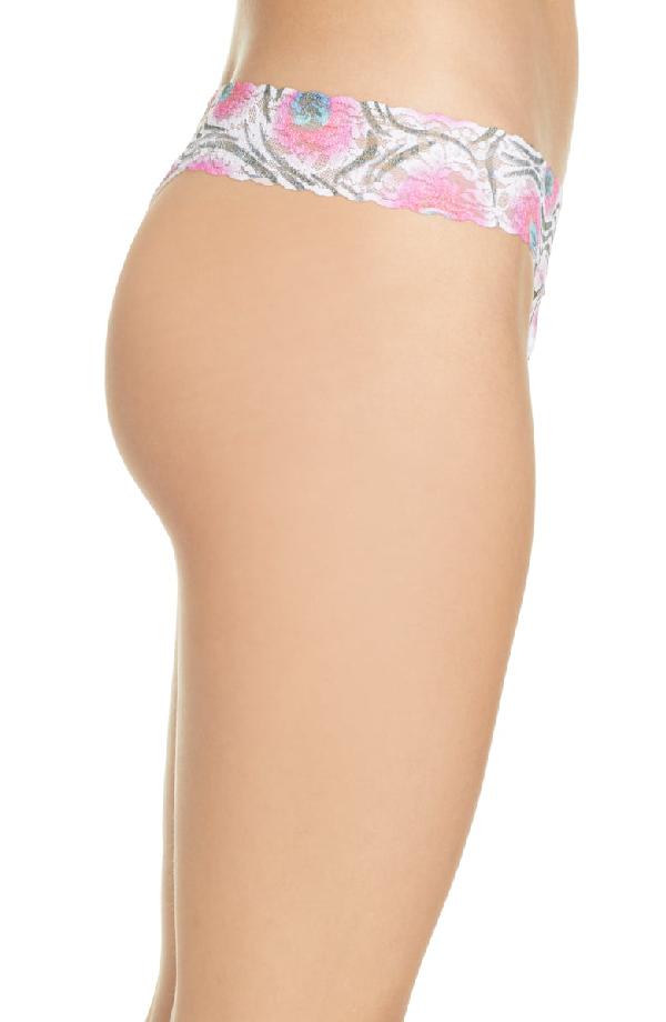 6c60c95f99c Hanky Panky Original-Rise Printed Lace Thong In Pink Multi | ModeSens