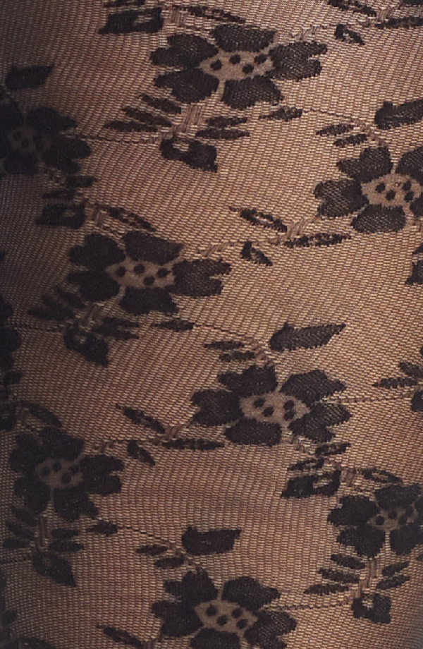 233be2e3d Dkny Floral Lace Sheer Tights In Black