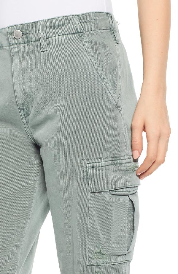 40da259575e Hudson Jane Cropped Military Cargo Pants In Distressed Sage | ModeSens