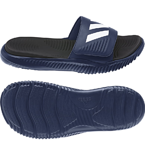 5fd146995641 Adidas Originals Alphabounce Slide Sandal In Dark Blue  White  Core Black