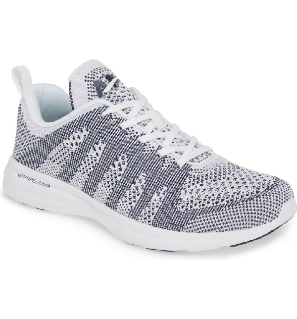d9489e3ce96 Apl Athletic Propulsion Labs Techloom Pro Knit Running Shoe In White  Navy
