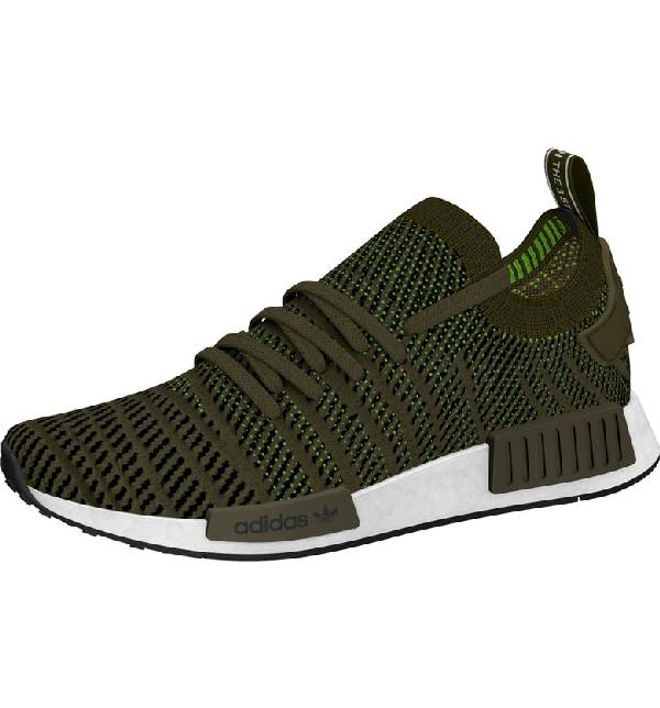 e857909c26b96 Adidas Originals Nmd R1 Stlt Primeknit Sneaker In Olive  Core Black  Solar  Slime