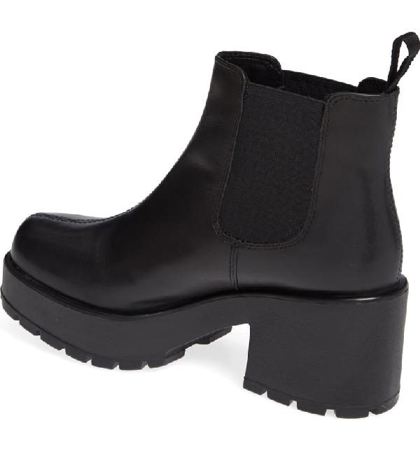 08895dc38118 Vagabond Shoemakers Dioon Platform Chelsea Bootie In Black Leather ...