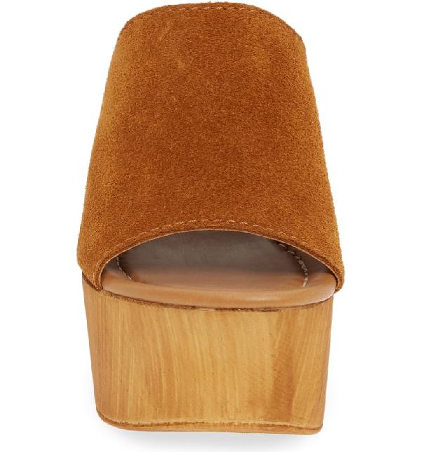 9e839956f76 Playdate Platform Slide Sandal in Chestnut Suede
