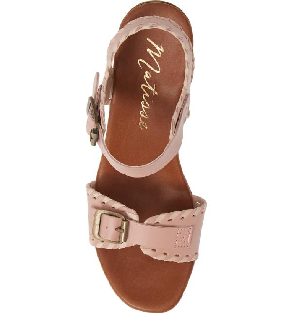 Matisse Twiggy Platform Sandal In Blush