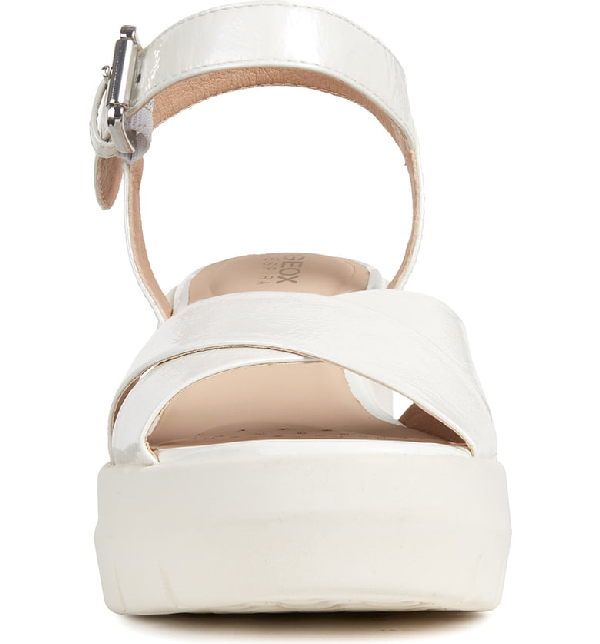 b1cffe971b Geox Torrence Platform Sandal In White Faux Leather | ModeSens
