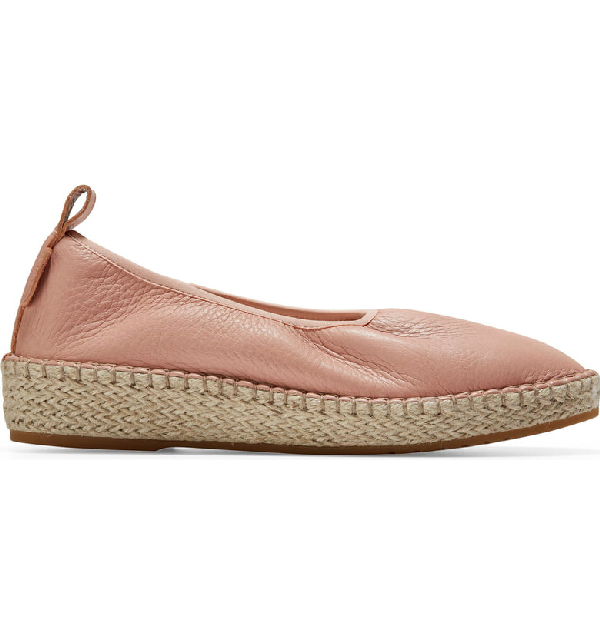 9eee350e559 Cloudfeel Leather Espadrille Sneakers in Rose Leather/ Natural Fabric