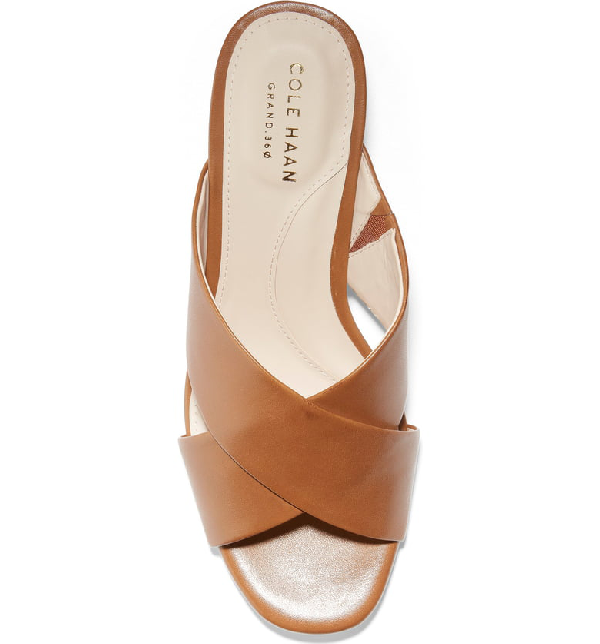 6a2c7b94db71f Cole Haan Adley Grand Wedge Sandals In Tan/ Natural Leather | ModeSens