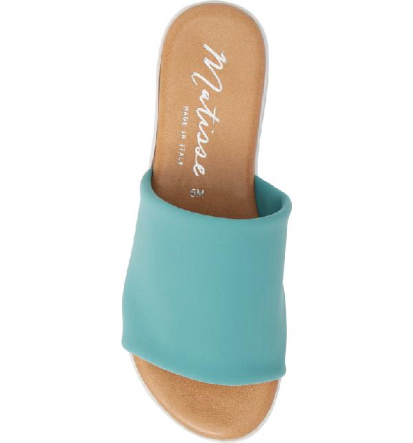 Matisse Paradise Slide Sandal In Turquoise