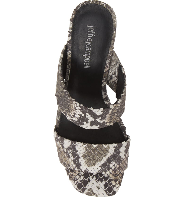 0dc0826a5a9f Jeffrey Campbell Adriana-2 Platform Slide Sandal In Brown  White Snake