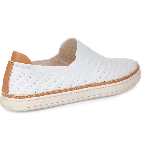 513defd7bfa Women's Sammy Chevron Knit Slip-On Sneakers in White Suede