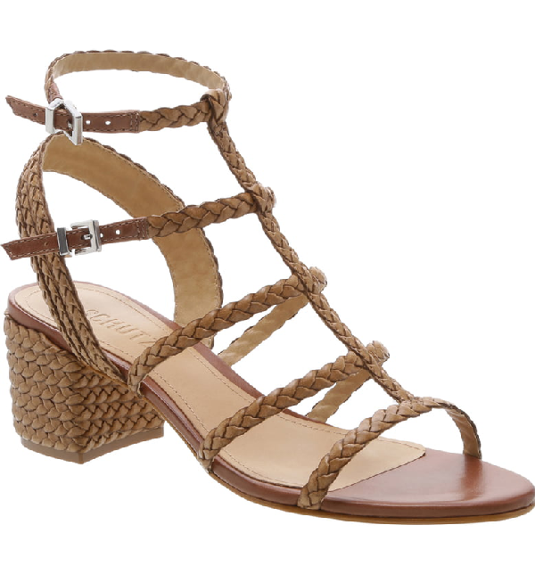 711de0c918 Schutz Women's Rosalia Strappy Block-Heel Sandals In Deep Nude Leather